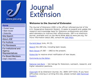 Journal of Extension main page