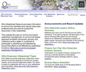 Ohio Watershed Networks main page