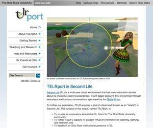 TELRport in Second Life main page