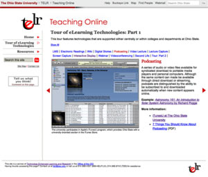Teaching Online main page